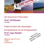 Poster zu einer Vortragsreihe zum Thema Energiewende